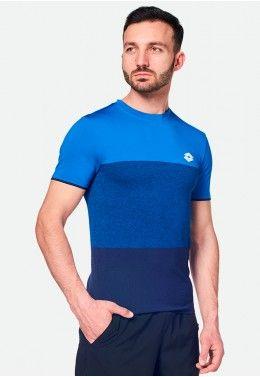 Теннисная одежда для мужчин Футболка для тенниса мужская Lotto TOP TEN TEE SML 210373/1CG