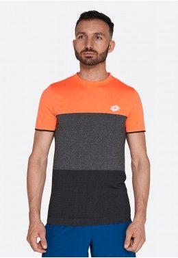 Теннисная одежда для мужчин Футболка для тенниса мужская Lotto TOP TEN TEE SML 210373/1E0