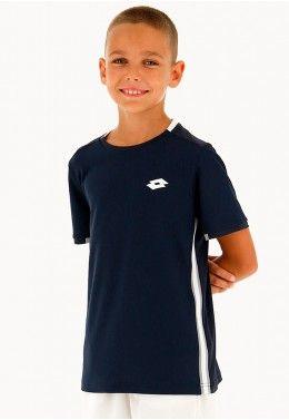 Теннисная одежда для мальчиков Футболка для тенниса детская Lotto SQUADRA B TEE PL 210381/1CI