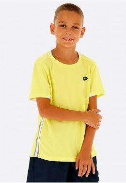 Футболка для тенниса детская Lotto TOP TEN B TEE PRT PL 211260/513 Футболка для тенниса детская Lotto SQUADRA B TEE PL 210381/3DH