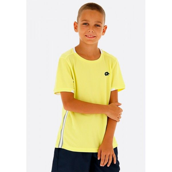 Купить Теннисные футболки для мальчиков, Футболка для тенниса детская Lotto SQUADRA B TEE PL LIMELIGHT 210381/3DH, Синтетика, Индонезия