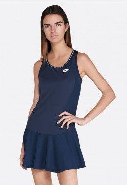 Теннисная одежда для женщин Теннисное платье женское Lotto SQUADRA W DRESS PL 210395/1CI