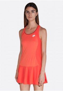 Одежда для тенниса Теннисное платье женское Lotto SQUADRA W DRESS PL 210395/4M6
