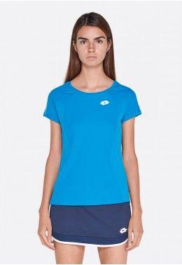 Теннисная одежда для девочек Футболка для тенниса детская Lotto SQUADRA G TEE PL 210399/26P