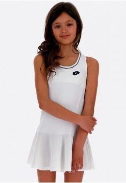 Теннисная одежда для девочек Теннисное платье детское Lotto SQUADRA G DRESS PL 210401/07R