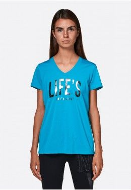 Женские футболки Футболка женская Lotto TRNG TEE PL W 210583/1CP