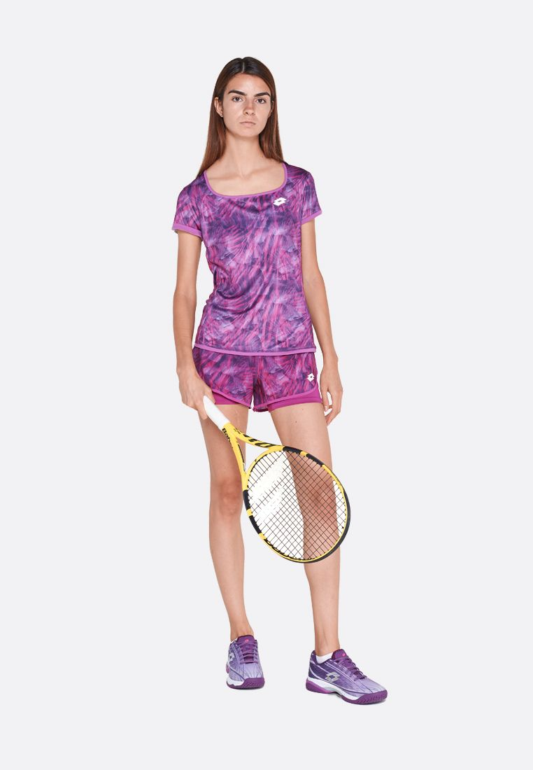 Футболка для тенниса женская Lotto TOP TEN W TEE PRT PL 211250/26M
