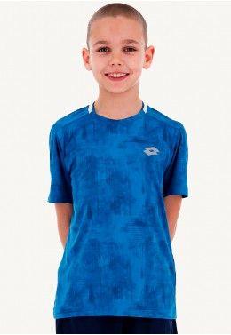 Футболка для тенниса детская Lotto SPACE II TEE B T5035 Футболка для тенниса детская Lotto TOP TEN B TEE PRT PL 211260/26P