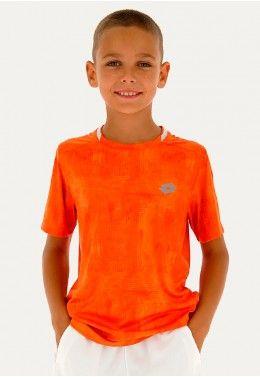 Футболка для тенниса детская Lotto SQUADRA B TEE PL 210381/07R Футболка для тенниса детская Lotto TOP TEN B TEE PRT PL 211260/513