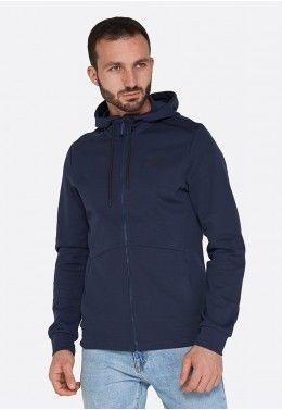 Мужская спортивная одежда Худи мужская Lotto DINAMICO SWEAT FZ HD CO 211397/1CI