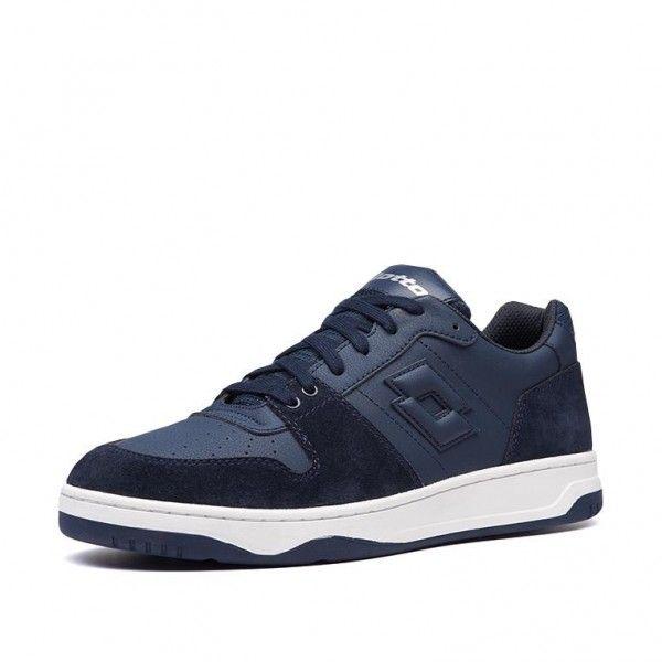 Купить Мужские кроссовки, Кроссовки мужские Lotto BASKET LOW NU DARK BLUE 212070/B00, Полиуретан с эффектом нубука/натуральная замша/нейлон, Вьетнам
