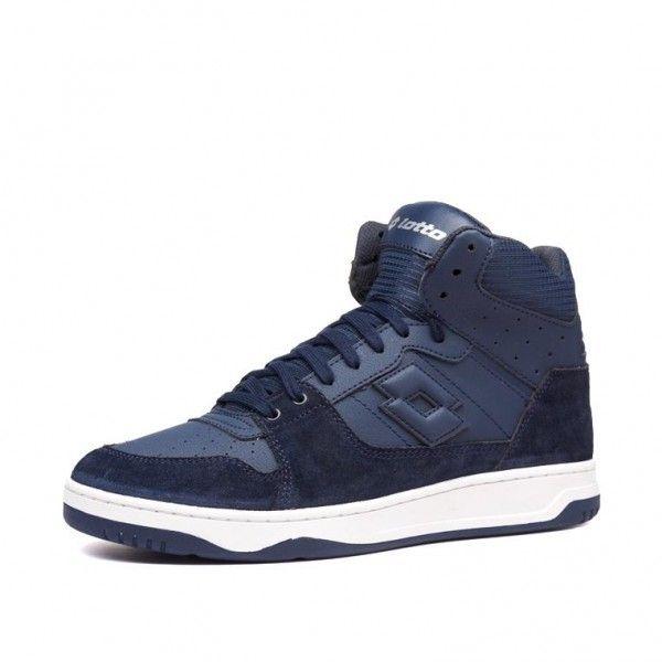 Купить Мужские кроссовки, Кроссовки мужские Lotto BASKET TOP NU DARK BLUE 212072/B00, Полиуретан с эффектом нубука/натуральная замша/нейлон, Вьетнам