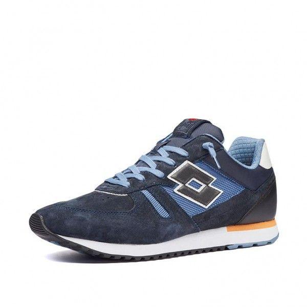 Купить Мужские кроссовки, Кроссовки мужские Lotto TOKYO SHIBUYA SD DARK BLUE/ALL BLACK/BLUE MIRAGE 212406/5HZ, Натуральная замша/нейлон, Камбоджа
