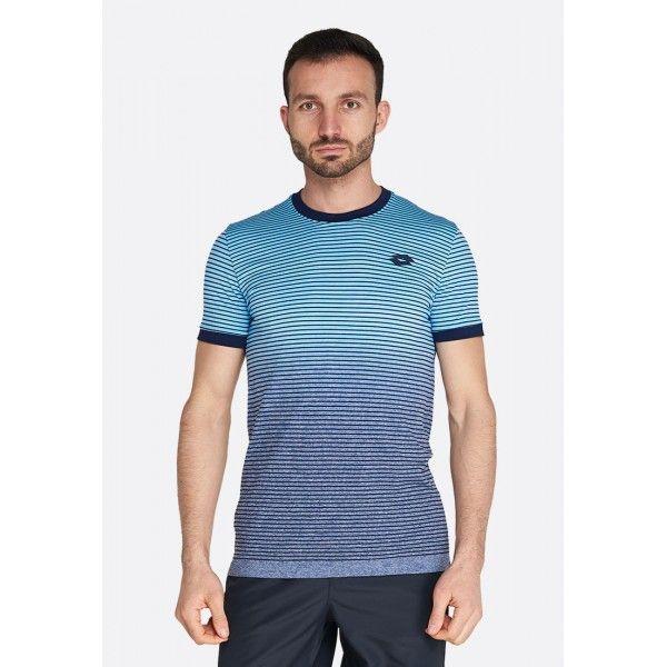 Купить Теннисные футболки для мужчин, Футболка для тенниса мужская Lotto TOP TEN II TEE SML DIVA BLUE/NAVY BLUE 212828/5PD, Синтетика, Китай