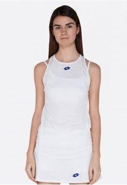 Теннисные майки для женщин Майка для тенниса женская Lotto TOP TEN W II TANK PL 212830/0F1