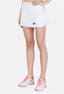 Кроссовки теннисные женские Lotto T-TOUR V 600 W R5676 Теннисная юбка женская Lotto TOP TEN W II SKIRT PL 212835/0F1