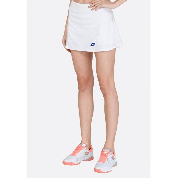 Купить Теннисные юбки для женщин, Теннисная юбка женская Lotto TOP TEN W II SKIRT PL BRIGHT WHITE 212835/0F1, Синтетика, Индонезия