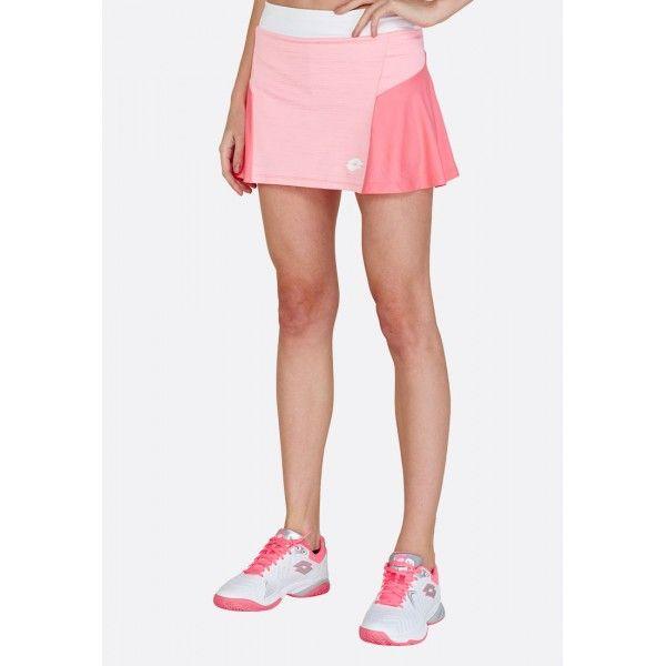 Купить Теннисные юбки для женщин, Теннисная юбка женская Lotto TOP TEN W II SKIRT PL SWEET ROSE/VIVID ROSE 212835/5PB, Синтетика, Индонезия