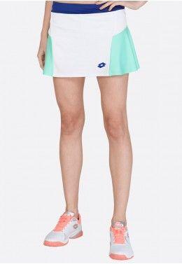 Кроссовки теннисные женские Lotto T-TOUR VI 600 W R8092 Теннисная юбка женская Lotto TOP TEN W II SKIRT PL 212835/5PC