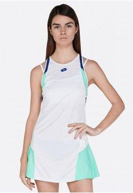 Кроссовки теннисные женские Lotto T-TOUR VI 600 W R8092 Теннисное платье женское Lotto TOP TEN W II DRESS PL 212837/5PC
