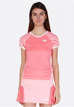 Теннисная одежда для девочек Футболка для тенниса детская Lotto TOP TEN G II TEE PRT PL 212839/5PE