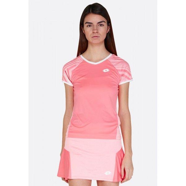 Купить Теннисные футболки для девочек, Футболка для тенниса детская Lotto TOP TEN G II TEE PRT PL VIVID ROSE/SWEET ROSE 212839/5PE, Синтетика, Индонезия