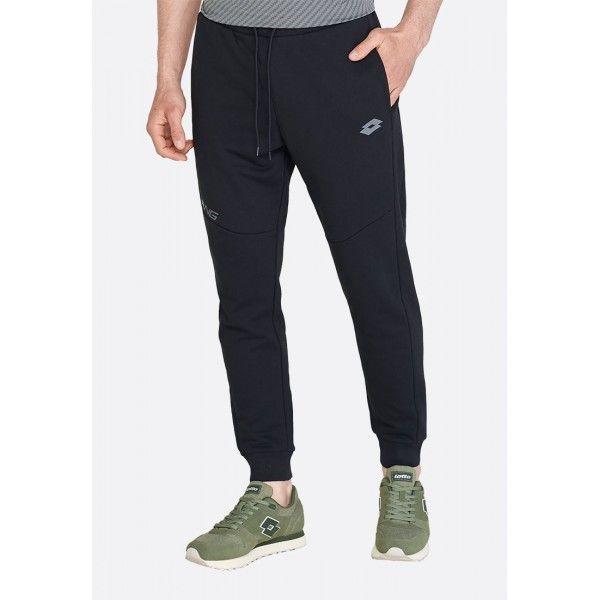 Купить Спортивные штаны мужские Lotto DINAMICO II PANT RIB FT ALL BLACK 213006/1CL, Хлопок/синтетика, Бангладеш