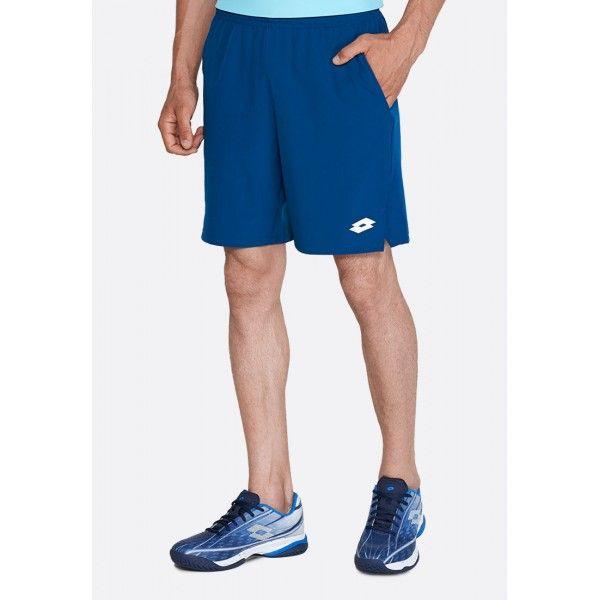 Купить Теннисные шорты для мужчин, Теннисные шорты мужские Lotto TOP TEN II SHORT9 PL BLUE 302C 214205/6OC, Синтетика, Китай