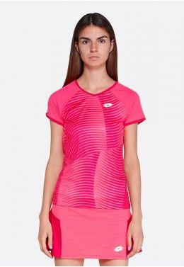 Теннисная экипировка для девочек Футболка для тенниса детская Lotto TOP TEN G II TEE PRT PL 214209/6OF