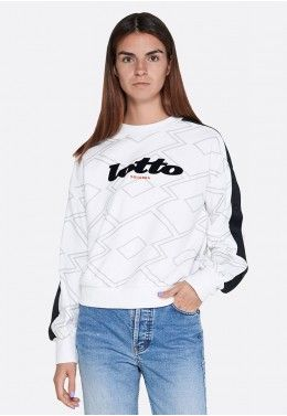 Реглан женский Lotto ATHLETICA CLASSIC W SWEAT RN FT 213430/0F1 Реглан женский Lotto ATHLETICA CLASSIC W II SWEAT RN PRT FT 214393/0F1