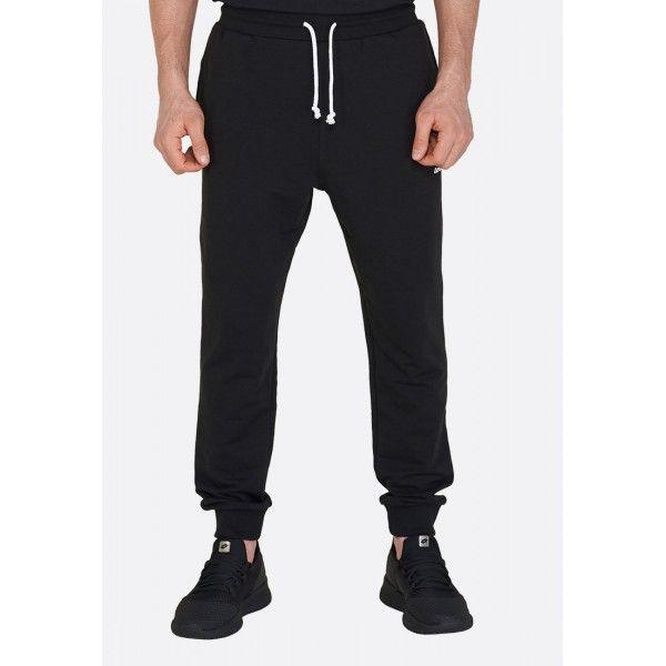 Купить Спортивные штаны мужские Lotto SMART PANT FT ALL BLACK L57083/1CL, Хлопок/синтетика, Бангладеш