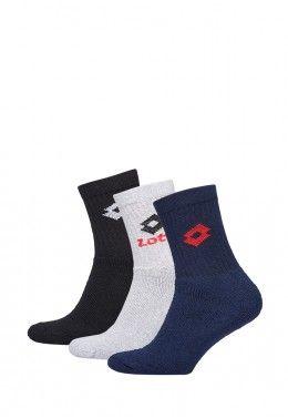 Спортивные носки Носки спортивные Lotto SOCK QUARTER - PK3PRS (Упаковка,3 пары) R1556