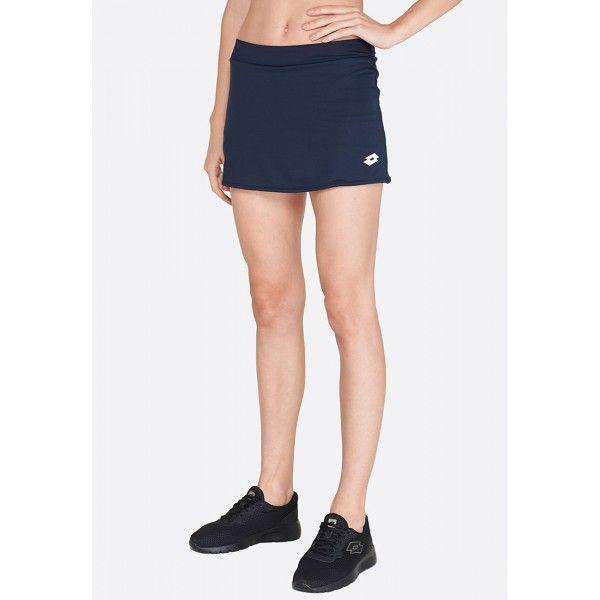 Купить Теннисные юбки для женщин, Теннисная юбка женская Lotto SKIRT ACE W NIGHT BLUE R7839, Синтетика, Индонезия