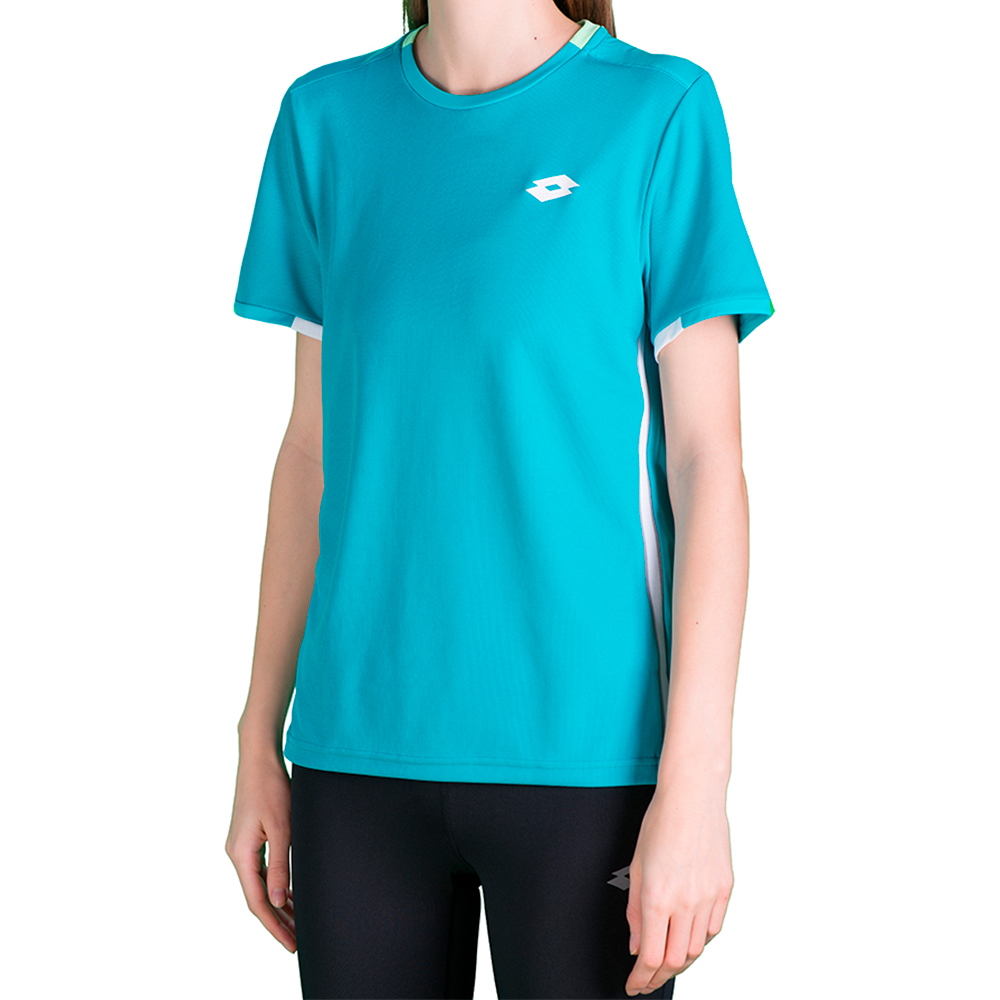 Купить Футболки, Футболка для тенниса детская Lotto SQUADRA B TEE PL 210381/1CP, BLUE BIRD, Синтетика