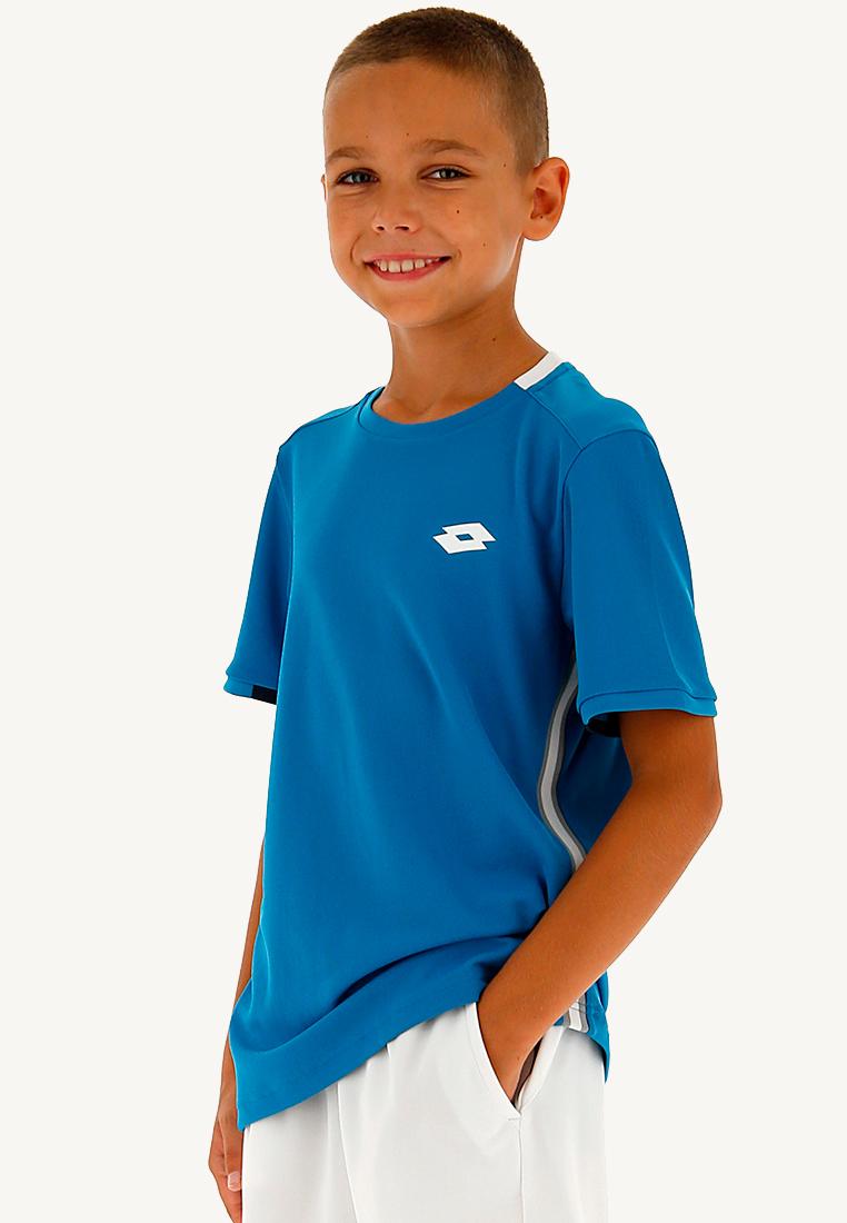 Купить Футболки, Футболка для тенниса детская Lotto SQUADRA B TEE PL 210381/26P, MOSAIC BLUE, Синтетика