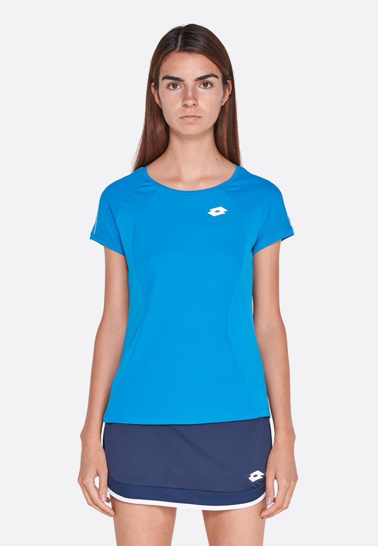 Купить Футболки, Футболка для тенниса детская Lotto SQUADRA G TEE PL 210399/26P, MOSAIC BLUE, Синтетика