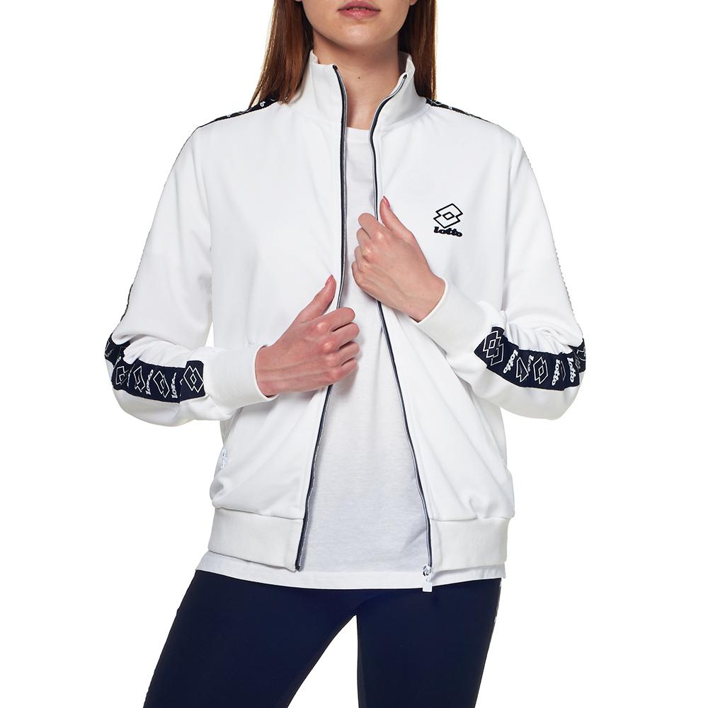 Купить Кофта женская, Спортивная кофта женская Lotto ATHLETICA II SWEAT FZ PL W 210891/07R, BRILLIANT WHITE, Синтетика