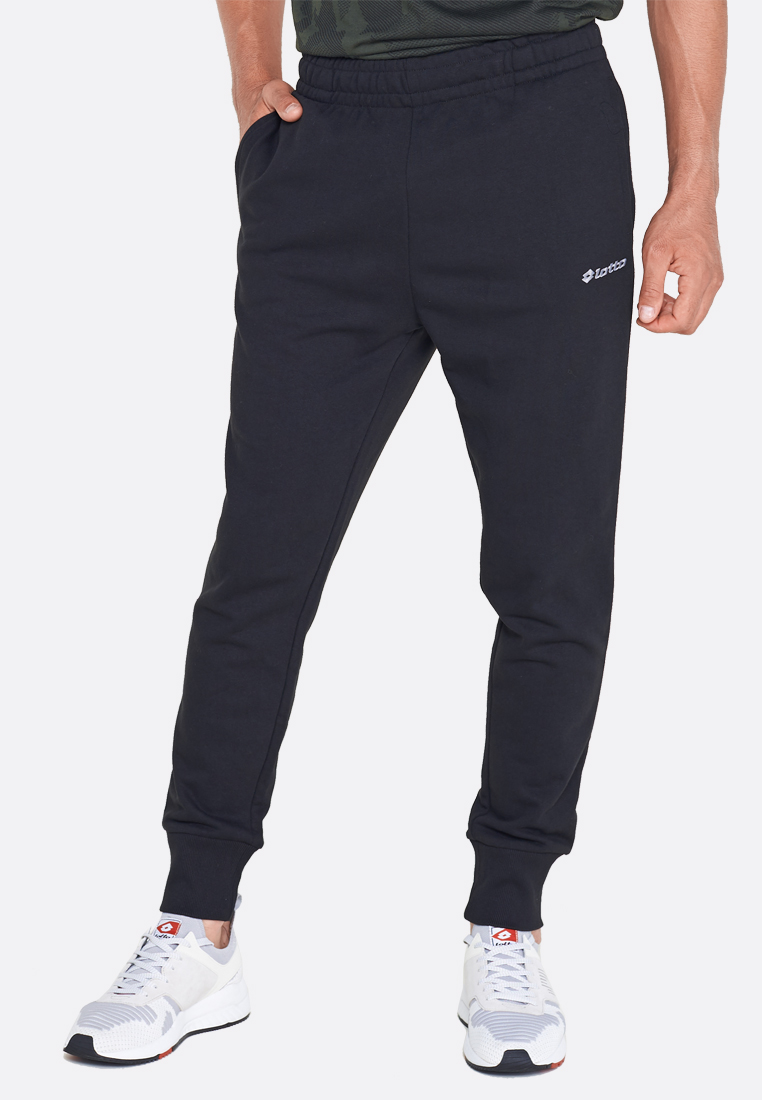 Купить Спортивные штаны мужские Lotto PANT MILANO RIB FT 211028/1CL, ALL BLACK, Хлопок/синтетика