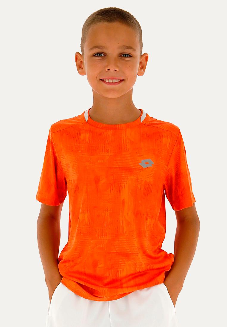 Купить Футболки, Футболка для тенниса детская Lotto TOP TEN B TEE PRT PL 211260/513, RED ORANGE, Синтетика