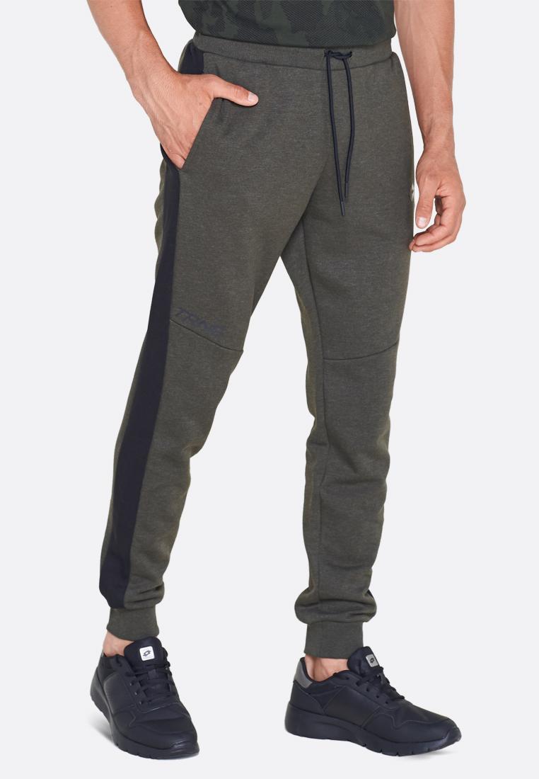 Купить Спортивные штаны мужские Lotto DINAMICO PANT RIB MEL FL 211401/26O, GREEN RESIN, Хлопок/синтетика