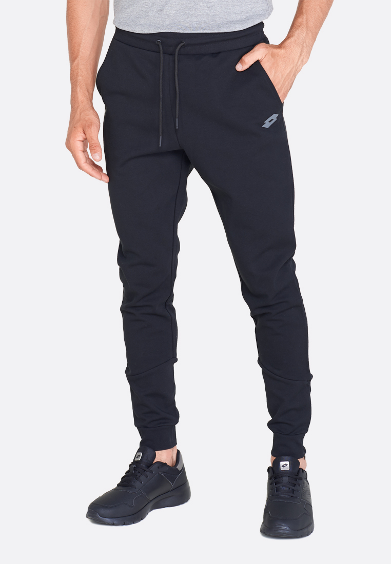 Спортивные штаны мужские Lotto DINAMICO II PANT CUFF CO 211404/1CL, ALL BLACK, Хлопок/синтетика  - купить со скидкой
