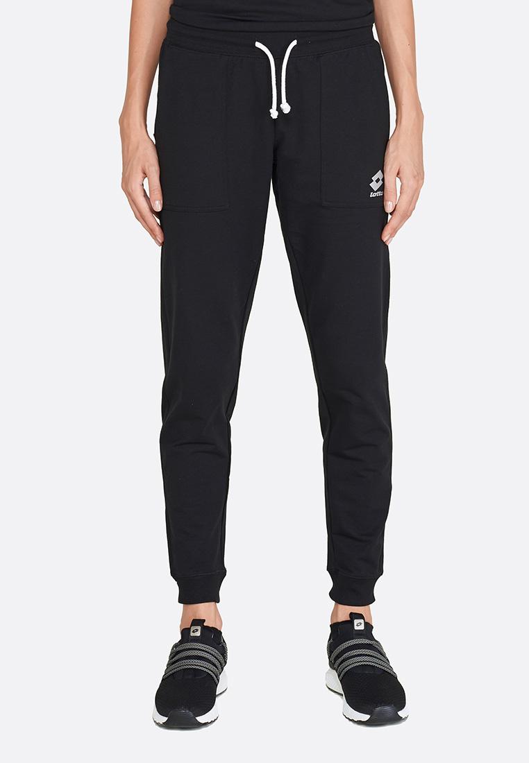 Купить Спортивные штаны женские Lotto SMART W PANT FT LB 211487/1CL, ALL BLACK, Хлопок/синтетика
