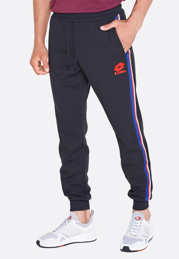 Купить Спортивные штаны мужские Lotto ATHLETICA III PANT RIB STP PL 211768/1CL, ALL BLACK, Хлопок/синтетика