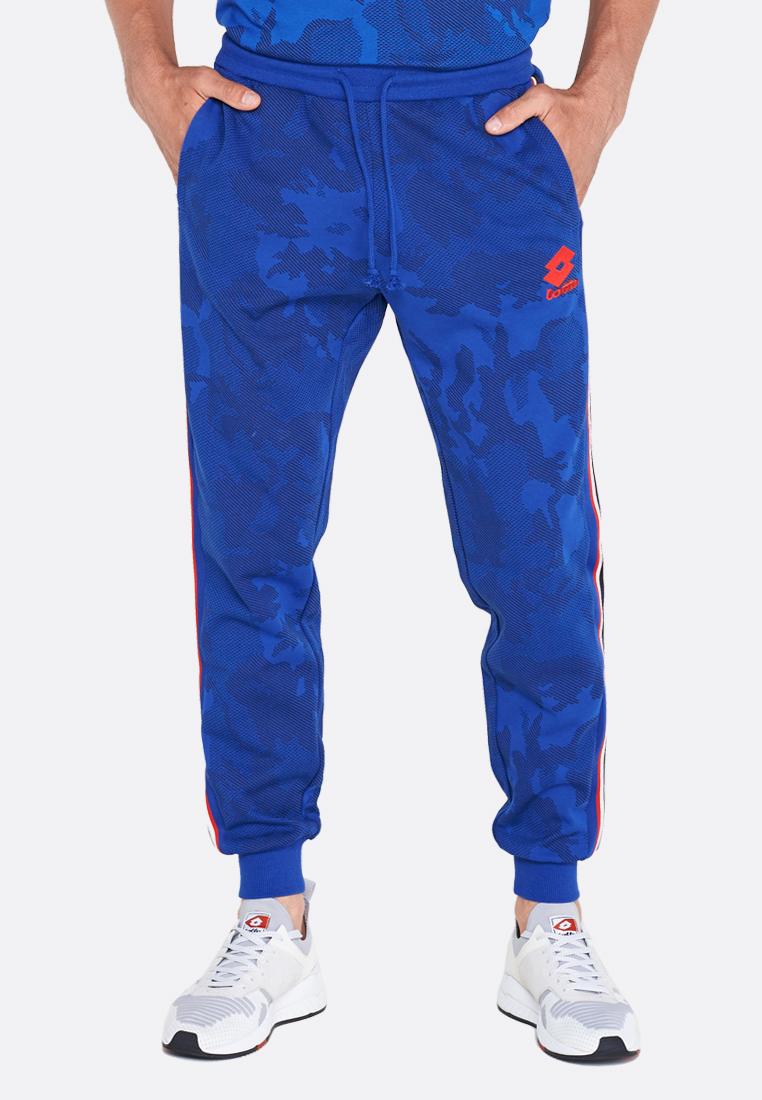 Купить Спортивные штаны мужские Lotto ATHLETICA III PANT RIB STP PRT FL 211770/1G2, ROYAL GEM, Хлопок/синтетика