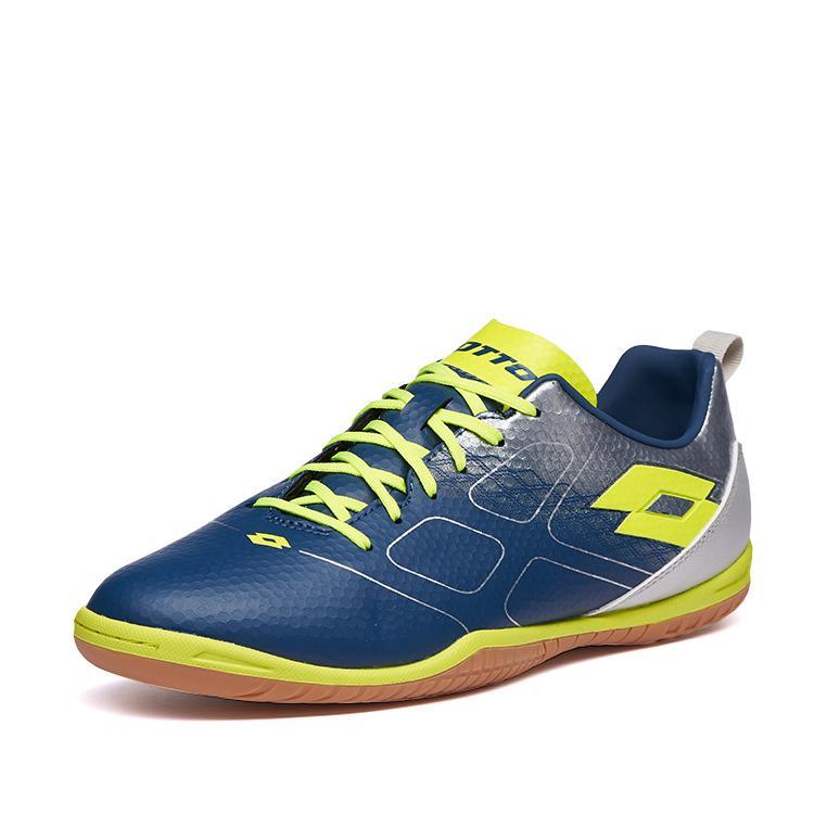 Купить Футзальная обувь для мужчин, Футзалки (бампы) мужские Lotto MAESTRO 700 ID L59153/22S, DARK DENIM/SAFETY YELLOW/SILVER METAL 2, Искусственная кожа